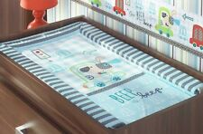 BABY CHANGE CHANGING MAT -  Beep Beep - Blue for a boy