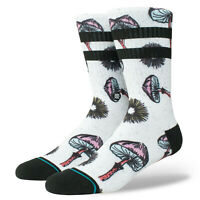 STANCE Men's Crew Socks SILLY SHROOMS - WHT - Medium(6-8.5) - NWT