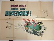 poster gare aux krostons dessin Max Ariane Piroton Deliége Spirou année 1970