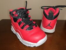 Toddler Jordan 10 Retro Athletic Shoes 'Bulls Over Broadway' - Size 7C