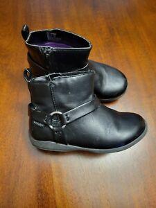 Girls Stride Rite Black Fashion Boots Size 9