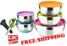 Mixing bowl mix bowl + scissors stainless silicone 5PC set X pyrex corelle