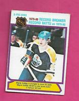 1980-81 OPC  # 3 OILERS WAYNE GRETZKY RECORD BREAKER VG CARD (INV# D1468)