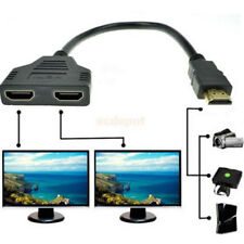 1080P HDMI Male to 2 HDMI Female 1 in 2 Out Y Splitter Converter Adapter Cable