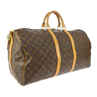 LOUIS VUITTON KEEPALL 55 BANDOULIERE TRAVEL HAND BAG PURSE M41414 AK31525b
