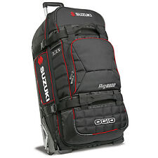 Genuine Suzuki 180 Lt Unisex OGIO 9800 SLED Trolley Bag Black Polyester New