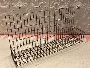 """Wall Home Decor Primitives By Kathy Metal Wall Pocket  Basket 13"""" x  6"""" Kitsch"""