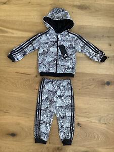 adidas Baby Boy LUFC Leeds United Tracksuit Age 12-18 Months BNWT