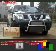 NISSAN PATHFINDER 06-12 LOW BULL BAR WITHOUT AXLE BARS +GRATIS! STAINLESS STEEL!