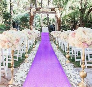AisleRunner for Wedding 15FTx2FT Sequin Aisle Runner Indoor 2FTx15FT Lavender