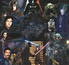 """2010 Topps Star Wars Galaxy 5 Complete 6 Card """"ETCHED FOIL"""" Puzzle Insert set"""