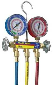 Yellow Jacket 42004 Mechanical Manifold Gauge Set,2-Valve