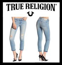 TRUE RELIGION CORA MID RISE STRAIGHT CROP JEAN WOMEN'S SIZE 24 (NEW) MSRP $219