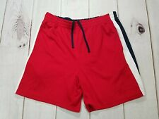 STAR Mens Shorts Size Large (36-38)100% Polyester Red with Blue & White Trim