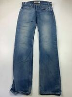 MENS LEVI STRAUSS&CO SIZE W32 BLUE CASUAL 504 STRAIGHT LEG DENIM JEANS TROUSERS