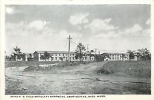 WWI Era~Camp Devens Ayer MA~302nd US Field Artillery Barracks~Dirt Road~B&W 1917