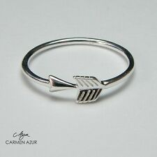 Solid 925 Sterling Silver Midi Ring, Arrow, Above Knuckle, Stacking, Gift Bag