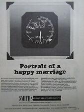 6/1969 PUB SMITHS MACH AIRSPEED INDICATOR FLIGHT DECK INSTRUMENTS ORIGINAL AD
