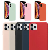 For iPhone 11 Pro Max XR X XS Max 8 Plus 7 Plus Case Premium Silicone Hard Cover
