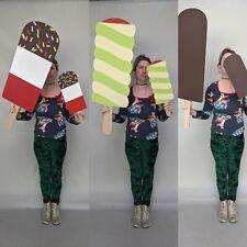 Giant In Legno Ice Lolly Crema Fab Twister VETRINA VISUALIZZAZIONE PROP Cioccolato