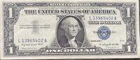 USA 1 Dollar 1957 A Silver Certificate One Banknote Schein Gute Erhaltung #21956