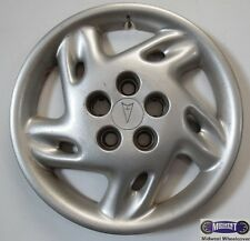 "'95-'99 PONTIAC, SUNFIRE, GRAND AM, USED 14"" HUBCAP, 10 SLOT, SPARKLE SILVER, 51"