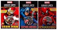 2017 Marvel Light-Up Coins - Set of 3 - Spiderman/Captain America/Iron Man Fiji