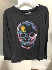 Girls Junkfood Skull Long Sleeve Shirt Size 8