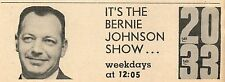 1960 WCHU ILLINOIS TV AD~IT'S THE BERNIE JOHNSON SHOW