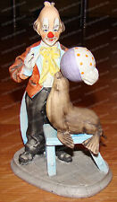 Collectors Edition, Clown, Seal & Ball (Arnart Imports) Porcelain, Certificate