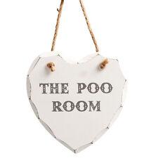 Heart Toilet Decorative Plaques & Signs
