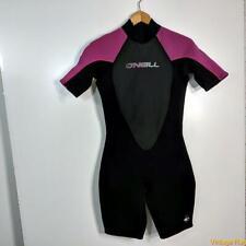 O'NEILL 2.1 mm Wetsuit S/S Shorty Wet Suit Womens 12 Black/purple neoprene