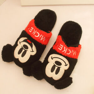 mickey mouse FUZZY  indoor slippers shoes slipper   X'mas  gift