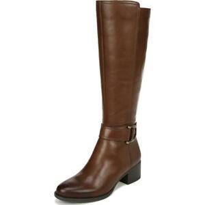 Naturalizer Womens Kelso Brown Tall Riding Boots Heels 12 Medium (B,M) BHFO 6832