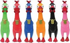 Animolds Squeeze Me Rubber Chicken Set of 6 - Random Colors - Party Favors Toys