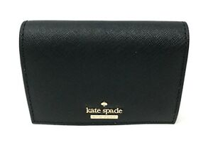Kate Spade Cameron Street Annabella Tusk Black Card Holder Wallet PWRU6516