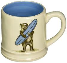 Boxed California Surf Bear Ceramic  Earthenware Mug 16 oz gift Dishwasher ok