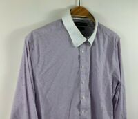 Calibre Men's Button Up Shirt Long Sleeve Size Large Slim Fit French Cuff
