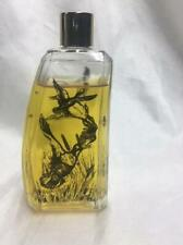 Avon clear bottle with black shadowed Ducks Tai Winds Aftershave 3 FL oz 95%full