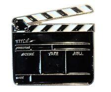 Film TV Director Clapper Board Video Production Clapboard Metal Enamel Badge NEW