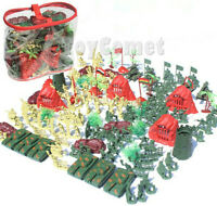 140 pcs Military Playset Plastic Toy Soldiers Army Men 6cm Figures & Accessories