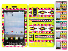 Hybrid Silicone Cover Case for LG Optimus Extreme L40g / L5 - Chevron Wave 00