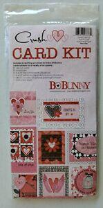 BoBunny Forever CARD Making Kit CRUSH CC789 NEW Hearts Romantic