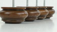 4x LEGNO CHIGNON piedi ANTICO MOBILE IN LEGNO GAMBE PER DIVANO, sedie, SGABELLI M10