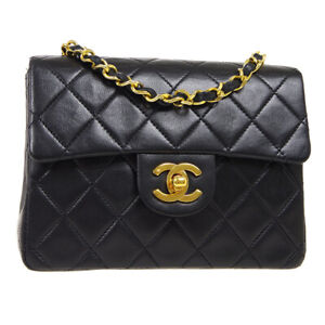 CHANEL Classic Flap Mini Square Shoulder Bag 1198442 Black Leather cke 38159