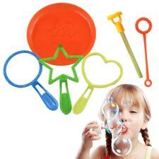 6Pcs Bubble Wand Tool Bubble Maker Blower Set for Kids Children Fun Toys