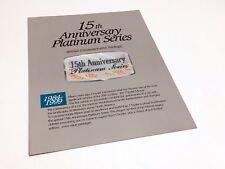 1999 Dodge Caravan Plymouth Voyager 15th Anniversary Platinum Series Brochure