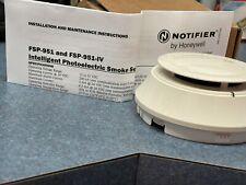 NOTIFIER FSP-951 INTELLIGENT PHOTOELECTRIC SMOKE DETECTOR FIRE ALARM WHITE