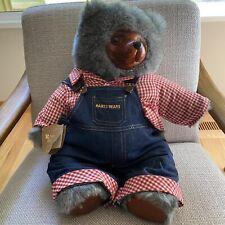 Robert Raikes Huckle Bear Farmer Overalls Collector Box Limited Edition Vintage