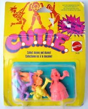 CUTIE Vintage miniature plastic figures 1986 Mattel dolls toys C.U.T.I.E. gift